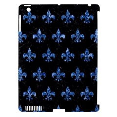 Royal1 Black Marble & Blue Marble (r) Apple Ipad 3/4 Hardshell Case (compatible With Smart Cover) by trendistuff