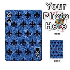 Royal1 Black Marble & Blue Marble Playing Cards 54 Designs