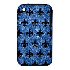 Royal1 Black Marble & Blue Marble Apple Iphone 3g/3gs Hardshell Case (pc+silicone) by trendistuff