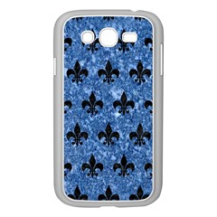Royal1 Black Marble & Blue Marble Samsung Galaxy Grand Duos I9082 Case (white) by trendistuff