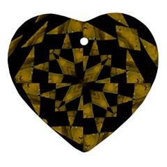 Bold Geometric Ornament (heart)  by dflcprints