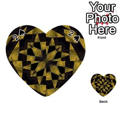 Bold Geometric Playing Cards 54 (heart)