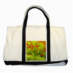 Poppy I Two Tone Tote Bag by colorfulartwork
