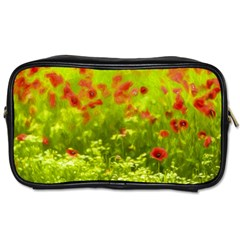 Poppy I Toiletries Bags 2 Side by colorfulartwork