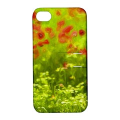 Poppy I Apple Iphone 4/4s Hardshell Case With Stand by colorfulartwork