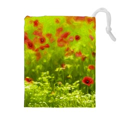 Poppy I Drawstring Pouches (extra Large) by colorfulartwork