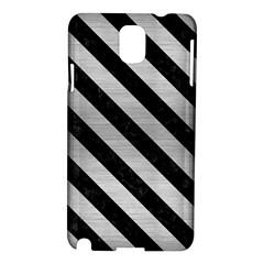 Stripes3 Black Marble & Silver Brushed Metal (r) Samsung Galaxy Note 3 N9005 Hardshell Case by trendistuff