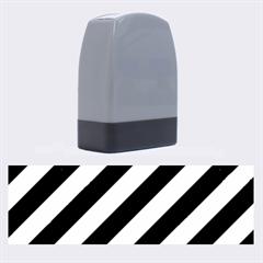 Stripes3 Black Marble & Silver Brushed Metal Name Stamp by trendistuff
