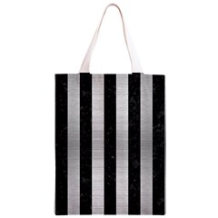 STR1 BK MARBLE SILVER Classic Light Tote Bag