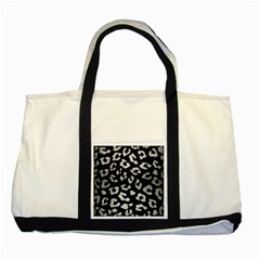 Skin5 Black Marble & Silver Brushed Metal (r) Two Tone Tote Bag by trendistuff