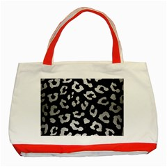 Skin5 Black Marble & Silver Brushed Metal (r) Classic Tote Bag (red) by trendistuff