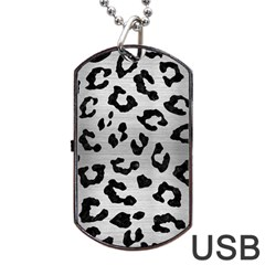 Skin5 Black Marble & Silver Brushed Metal Dog Tag Usb Flash (two Sides) by trendistuff