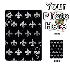 Royal1 Black Marble & Silver Brushed Metal (r) Playing Cards 54 Designs