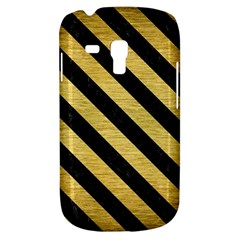 Stripes3 Black Marble & Gold Brushed Metal (r) Samsung Galaxy S3 Mini I8190 Hardshell Case by trendistuff
