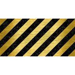 Stripes3 Black Marble & Gold Brushed Metal You Are Invited 3d Greeting Card (8x4)