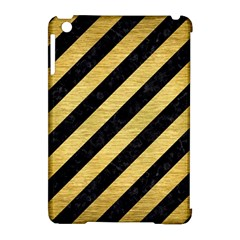 Stripes3 Black Marble & Gold Brushed Metal Apple Ipad Mini Hardshell Case (compatible With Smart Cover) by trendistuff