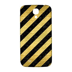 Stripes3 Black Marble & Gold Brushed Metal Samsung Galaxy S4 I9500/i9505  Hardshell Back Case by trendistuff