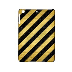 Stripes3 Black Marble & Gold Brushed Metal Apple Ipad Mini 2 Hardshell Case by trendistuff
