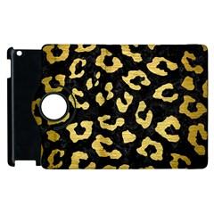 Skin5 Black Marble & Gold Brushed Metal (r) Apple Ipad 2 Flip 360 Case by trendistuff