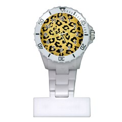 SKN5 BK MARBLE GOLD Plastic Nurses Watch by trendistuff