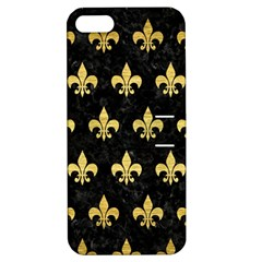 Royal1 Black Marble & Gold Brushed Metal (r) Apple Iphone 5 Hardshell Case With Stand by trendistuff