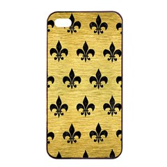 Royal1 Black Marble & Gold Brushed Metal Apple Iphone 4/4s Seamless Case (black) by trendistuff