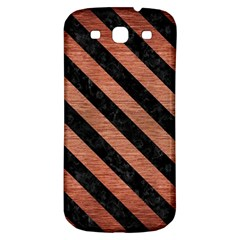 Stripes3 Black Marble & Copper Brushed Metal (r) Samsung Galaxy S3 S Iii Classic Hardshell Back Case by trendistuff
