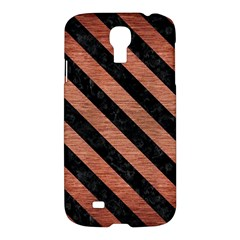 Stripes3 Black Marble & Copper Brushed Metal (r) Samsung Galaxy S4 I9500/i9505 Hardshell Case by trendistuff