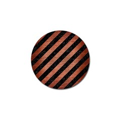 Stripes3 Black Marble & Copper Brushed Metal Golf Ball Marker (10 Pack) by trendistuff