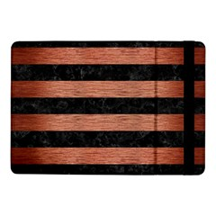 Stripes2 Black Marble & Copper Brushed Metal Samsung Galaxy Tab Pro 10 1  Flip Case by trendistuff