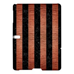 Stripes1 Black Marble & Copper Brushed Metal Samsung Galaxy Tab S (10 5 ) Hardshell Case