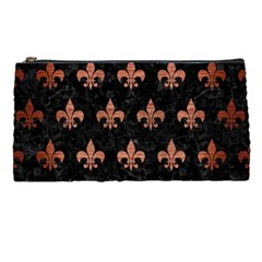 Royal1 Black Marble & Copper Brushed Metal (r) Pencil Case by trendistuff