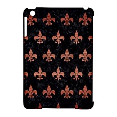 Royal1 Black Marble & Copper Brushed Metal (r) Apple Ipad Mini Hardshell Case (compatible With Smart Cover) by trendistuff