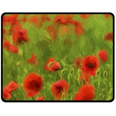 Poppy Ii   Wonderful Summer Feelings Fleece Blanket (medium)  by colorfulartwork