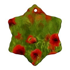 Poppy Ii   Wonderful Summer Feelings Snowflake Ornament (2 Side) by colorfulartwork