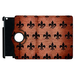 Ryl1 Bk Marble Copper Apple Ipad 2 Flip 360 Case by trendistuff