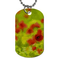 Poppy Iii Dog Tag (two Sides) by colorfulartwork