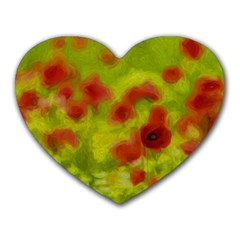 Poppy Iii Heart Mousepads by colorfulartwork