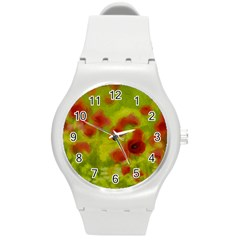 Poppy Iii Round Plastic Sport Watch (m) by colorfulartwork