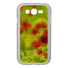 Poppy III Samsung Galaxy Grand DUOS I9082 Case (White) by colorfulartwork