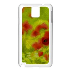 Poppy III Samsung Galaxy Note 3 N9005 Case (White) by colorfulartwork
