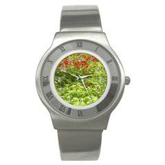 Poppy V Stainless Steel Watch by colorfulartwork