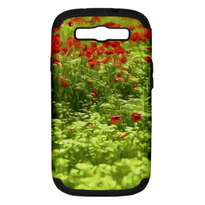 Poppy V Samsung Galaxy S III Hardshell Case (PC+Silicone)