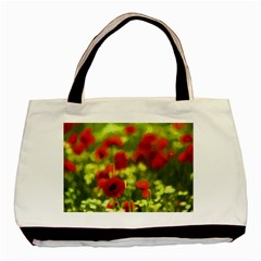 Poppy Vi Basic Tote Bag (two Sides) by colorfulartwork