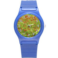 Poppy Vii Round Plastic Sport Watch (s) by colorfulartwork