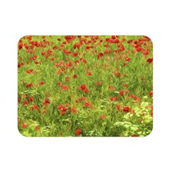 Poppy Vii Double Sided Flano Blanket (mini)  by colorfulartwork