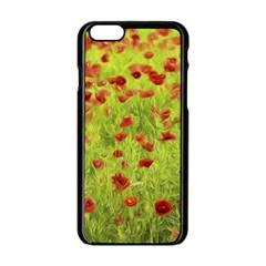 Poppy Viii Apple Iphone 6/6s Black Enamel Case by colorfulartwork