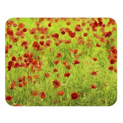 Poppy Viii Double Sided Flano Blanket (large)  by colorfulartwork