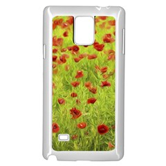 Poppy Viii Samsung Galaxy Note 4 Case (white) by colorfulartwork