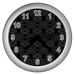 Powder Magic Wall Clocks (silver)  by MRTACPANS